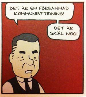 Tidningen Galago publicerar tecknaren Steve Nybergs seriedramatisering om attentatet mot tidningen Norrskensflamman, med titeln