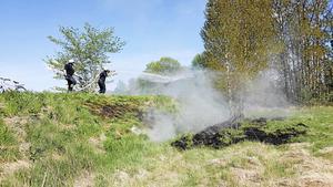 SMHI varnar för att det råder stor risk för markbränder på måndagen.