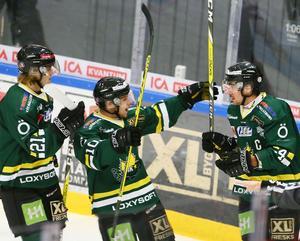 Tre nyckelspelare som alla måste kliva fram i helgen om ÖIK ska kunna nå framgång mot Asplöven och Kalix. Från vänster Marcus Sirén, Jonathan Tholander och Nisse Bergström.
