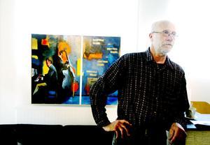 MUSIKKONSTNÄR. Björn Söderstedt delar sin tid mellan musiken och konsten. Och musiken syns i konsten, med motiv från klubbmiljö.
