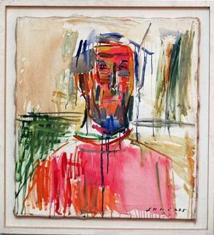 Det här självporträttet målade konstnären 1975.