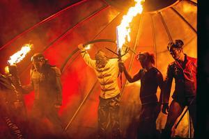 Joe Labero med showen Inferno. Foto: VLT Arkiv