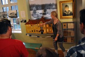 Museet har även en modell av fasta paviljongen, där de allra farligaste patienterna placerades.