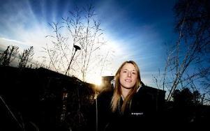 Fyra dalaspelare kommer representera Sverige i VM. För IBF Faluns Johanna Holmbom blir det VM-debut. Foto: Johan Solum/DT