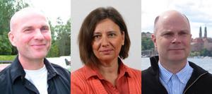 Saknar medlemmarnas stöd? Runar Filper, Marie Edenhager och John Bergström pekas ut som de som styr Sverigedemokraterna i Västerås. Ingen av dem är bosatt i länet.
