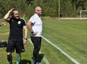 Två nyckelpersoner i Gottne IF, Mats Falck och Roger Dannberg.