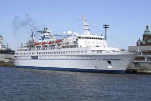 M/S Delphin som var planerat asylboende utanför Norrsundet