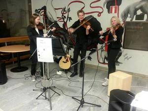 Unni Enlund Mathisen, Oskar Sunnanhagen och Julia Bengtson driver företaget Majour music.