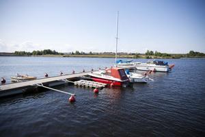 Här, vid Inre hamnen,  pågår förhandlingar om en ny marina i Gävle.
