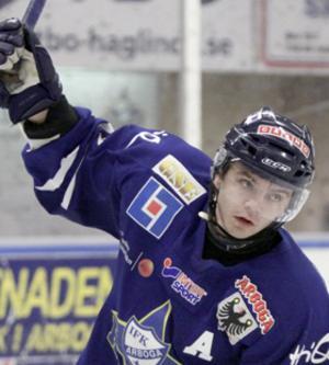 Jens Johansson avgjorde för IFK Arboga i förlängningen.