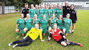 Hälsinglands FF flickor 15 på elitflicklägret i Halmstad 2016.
