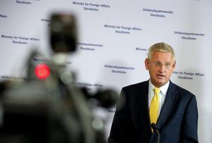 Utrikesministern Carl Bildts samröre med oljebolaget Lundin gör att han har ett enormt trovärdighetsproblem i frågan om de båda journalisterna som sitter fängslade i Etiopien. De var på plats för att granska just oljebolaget Lundins framfart i området.