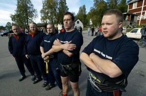 Hasselaget som vann. Lasse Korva, Kristian Lundin, Christer Sundin, Janne Kram och Nicklas Eriksson.