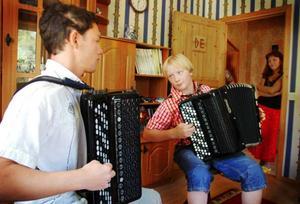 Så här såg det ut när Iosif Purits och Daniel Eliasson övade ihop  vid Iosifs förra besök i Sverige sommaren 2007.  Foto: Sandra Högman