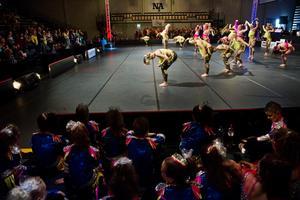 Den tyska formationen Dance Attack! i sitt framförande.