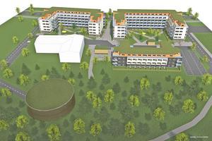 Det kan bli ett runt parkeringshus med gräs och annan växtlighet på taket.