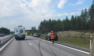 En olycka inträffade på E4 vid Ångersjön.