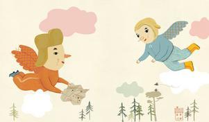 """Camilla Engman har gjort illustrationerna till Barbro Lindgrens bok """"Vi leker att vi är pippifåglar""""."""