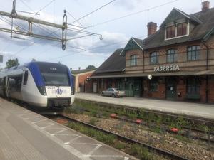 Det är stopp i tågtrafiken mellan Fagersta och Fagersta norra.