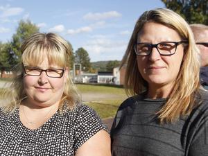 Malin Seger-Olausson (t.v.) och Maria Renström, båda boende i Svenstavik, tycker att den nya spontanidrottsplatsen är ett välkommet tillskott till byn och en möjlig samlingsplats för alla invånare i området.