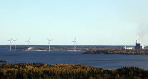 Utanför Korsnäs finns redan idag vindkraftverk.
