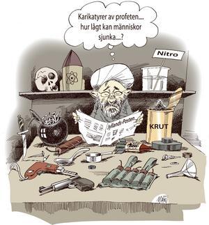 Muhammedkarikatyrerna som publicerades i Jyllands-Posten ledde till häftiga protester från muslimska grupper.