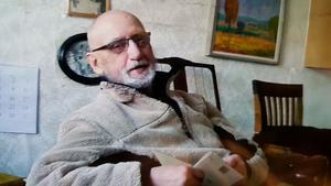 Joachim Datorius i hemmet, bilden är tagen av en av hans döttrar.