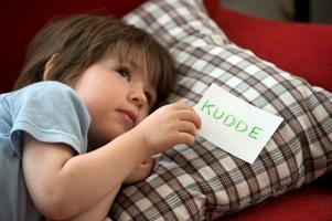 Lappar med ord kan både vara kul att leka med och en hjälp att förstå det skrivna språket tidigt.