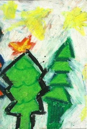 Tredje pris 7-10 år: Alva Toresson, 8 år, Bräcke.