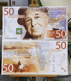 Evert Taube på 50-kronorssedeln.