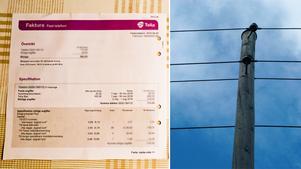 Telias kunder har fått fakturor där de ombeds betala för fast telefoni kopplat till det marknät som Telia släckte ned den sista augusti.