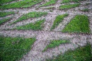 Ekängens fotbollsplan kördes sönder ordentligt på sina ställen.