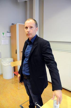 Joakim Ek, Kaj63:s VD, föreläste om programmering.