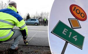 Jan Filipsson och Sten-Ove Danielsson mätte nyligen bredden på E14 – bra initiativ menar skribenten, men trycker också på att det måste till en samlad opinion för att få Trafikverket att tänka om.