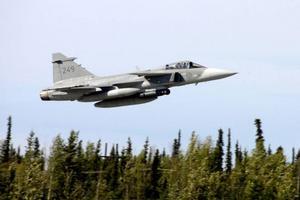 Jas 39 Gripen kommer till Härjedalen när flygdagen på Hedlanda 20-års jubilerar.Foto: Försvarets Bildbyrå