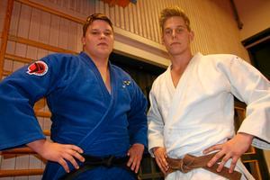 Jodujuniorer. Sebastian (till vänster) och Jonathan Fagerhill tränar judo i Frövi JK.