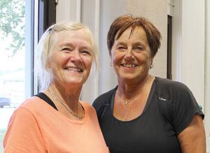 Lena Palo och Berit Eriksson tränar tre gånger i veckan, bland annat cirkelgym.
