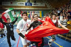 Iran firade VM-guldet.