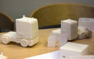Exempel på projekt som teknikprogrammet skrivit ut i 3D-skrivare.