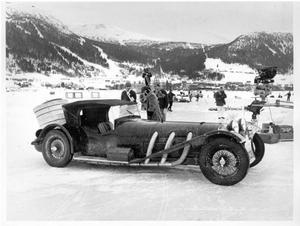 Detta är den Mercedes SSK årsmodell cirka 1930 som i filmen kördes av den tyske skådespelaren Gert Fröbe.
