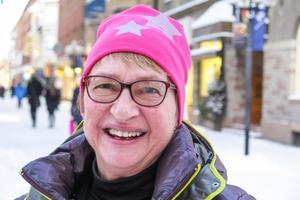 Birgith Malm, 66 år, Marieby: – Ja, det tror jag. Man är pensionär och gör som man vill. Jag kanske åker på en kryssning med gubben.