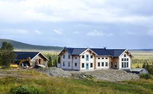 När nya Henvålen byggdes togs den här bilden i samband med att Maths O Sundqvist berättade om sina planer i LT 2011.