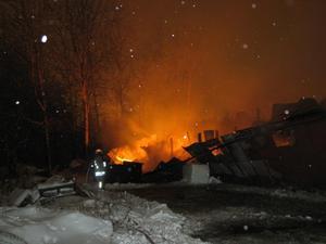 Botorps ridskola brann ner till grunden.