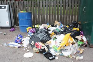 Den nya avfallsplanen ska få Avestaborna att sopsortera mer. Men hela kommunens verksamhet påverkas också. På bilden syns en hög sopor som dumpades på macken i Horndal efter midsommar.