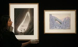 I utställningen finns även foton av Antarktis-fotogarfen Herbert Ponting och målningar av Edward Adrian Wilson.