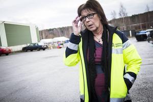 Karina Nylander, servicechef på Söderhamns kommun, tror inte att kommunala rökrutor skulle fungera. Fotograf: Therese Selén