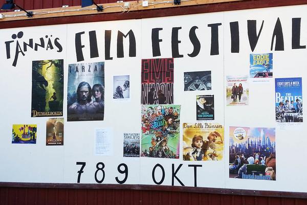Utbudet av olika filmer på filmfestivalen i helgen.