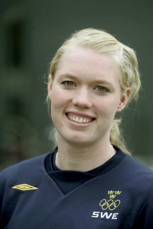 Målvakten Hedvig Lindahl, född 1983  i Katrineholm, spelar till vardags i Chelsea Ladies FC.