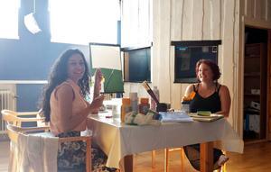 Jenny Hansen hade intressanta diskussioner med Arek Nazaret.