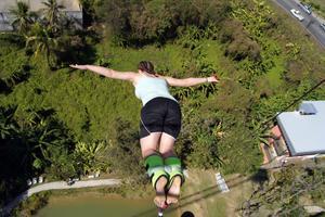 Bungyjump är inget för Sebastian Benker